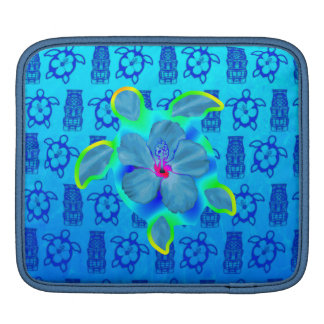 Tropical Honu Turtle and Hibiscus iPad Sleeves