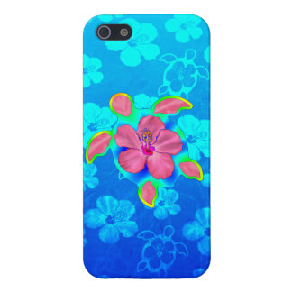 Tropical Honu Turtle and Hibiscus iPhone 5 Cover