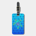 Tropical Honu Turtle And Hibiscus Luggage Tag at Zazzle