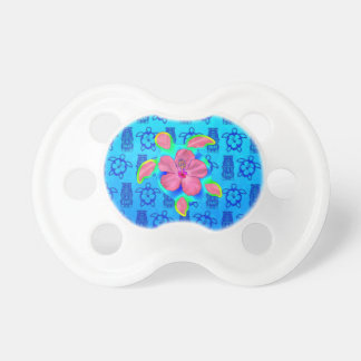 Tropical Honu Turtle and Hibiscus BooginHead Pacifier