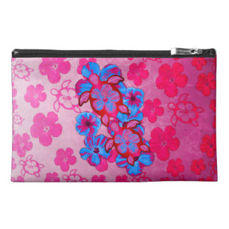 Tropical Honu Turtles And Hibiscus Flowers Travel Accessories Bags