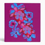Tropical Honu Turtles And Hibiscus Flowers Vinyl Binders