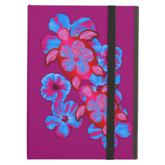 Tropical Honu Turtles And Hibiscus Flowers Cover For iPad Air
