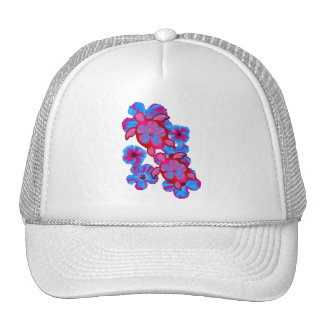 Tropical Honu Turtles And Hibiscus Flowers Trucker Hat