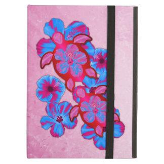Tropical Honu Turtles And Hibiscus Flowers iPad Folio Cases