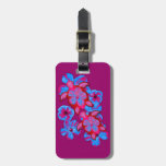 Tropical Honu Turtles And Hibiscus Flowers Luggage Tag