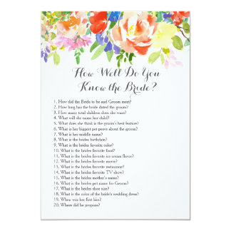 tropical How well do you know the bride? Card