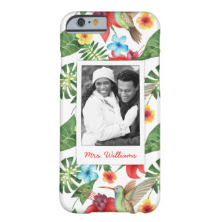 Tropical Hummingbird | Add Your Photo & Name Barely There iPhone 6 Case