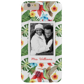 Tropical Hummingbird | Add Your Photo & Name Barely There iPhone 6 Plus Case