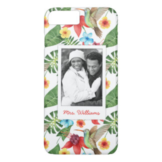 Tropical Hummingbird | Add Your Photo & Name iPhone 7 Plus Case