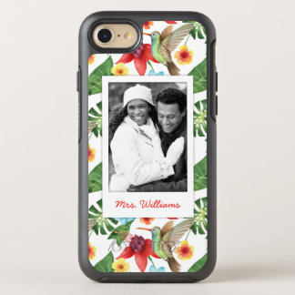 Tropical Hummingbird | Add Your Photo & Name OtterBox Symmetry iPhone 8/7 Case