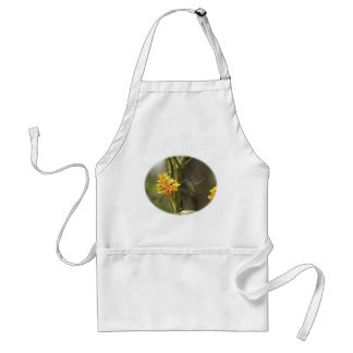 Tropical Hummingbird and Flower Adult Apron