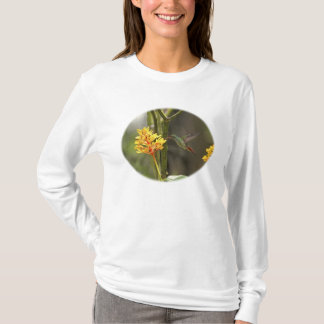 Tropical Hummingbird and Flower T-Shirt