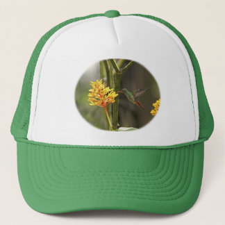 Tropical Hummingbird and Flower Trucker Hat