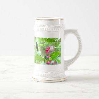 Tropical Hummingbird and Flowers Beer Stein