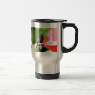 Tropical Hummingbird at Feeder Travel Mug