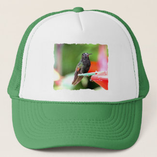 Tropical Hummingbird at Feeder Trucker Hat