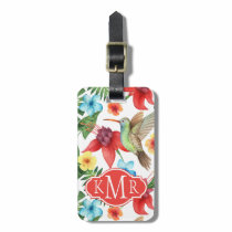 Tropical Hummingbird | Monogram Bag Tag