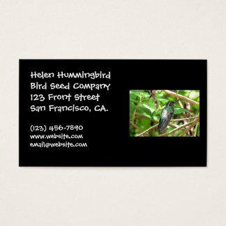 Tropical Hummingbird Picture Business Card