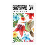 Tropical Hummingbird Postage Stamp