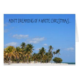 Tropical Humorous Christmas Greeting Card