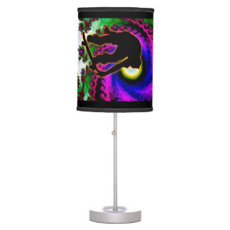 Tropical Hurricane Eye with Skateboarder Desk Lamp
