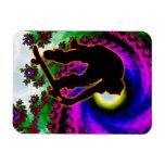 Tropical Hurricane Eye with Skateboarder Rectangle Magnet