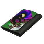 Tropical Hurricane Eye with Skateboarder Wallet