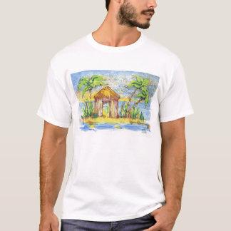 Tropical Hut Pop Art T-Shirt