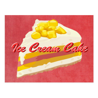Tropical Ice Cream Cake Postcard