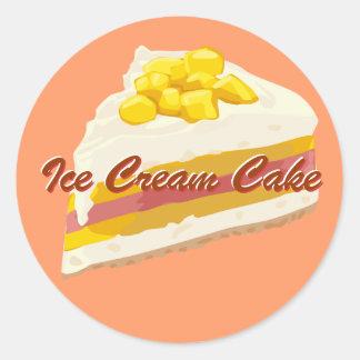 Tropical Ice Cream Cake Stickers