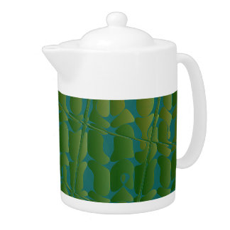 Tropical Inspired Pattern Teapot
