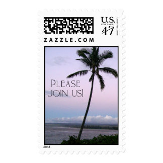 Tropical Invitation Stamp