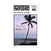 Tropical Invitation Stamp stamp