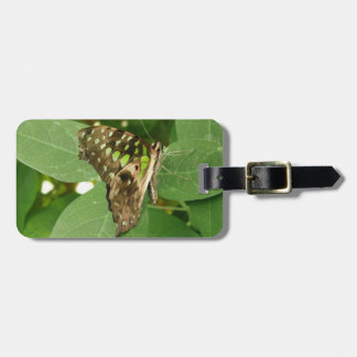 Tropical Iridescent Green Butterfly Custom Luggage Tag