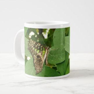 Tropical Iridescent Green Butterfly Mug