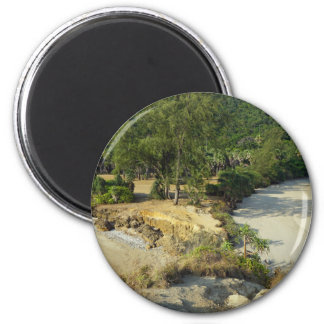 tropical island 2 inch round magnet
