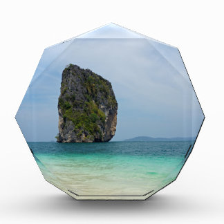 tropical island acrylic award