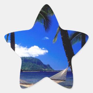 Tropical Island Afternoon Nap Kauai Hawaii Star Sticker