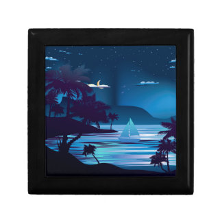 Tropical Island at Night2 Jewelry Box