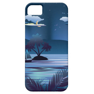 Tropical Island at Night iPhone SE/5/5s Case