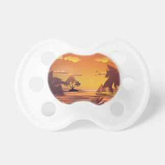 Tropical Island at Sunset2 Pacifier