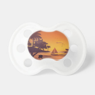 Tropical Island at Sunset 2 Pacifier
