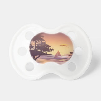 Tropical Island at Sunset Pacifier