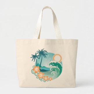 Tropical Island Canvas Bags