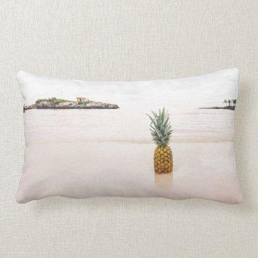 Beach Themed Tropical Island Beach Accent Pineapple Custom Lumbar Pillow