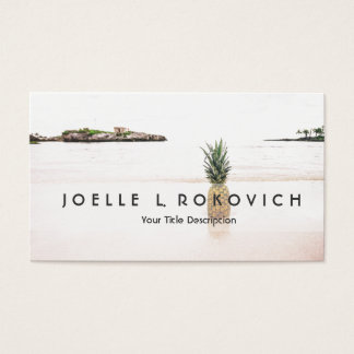 Tropical Island Beach Accent Pineapple Romantic Business Card
