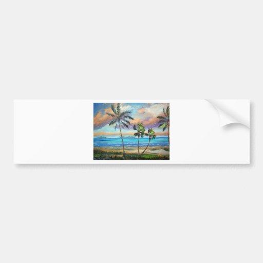 Tropical Island Beach Bumper Stickers