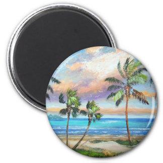Tropical Island Beach Magnet