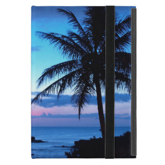 Tropical Island Beach Ocean Pink Blue Sunset Photo Covers For iPad Mini